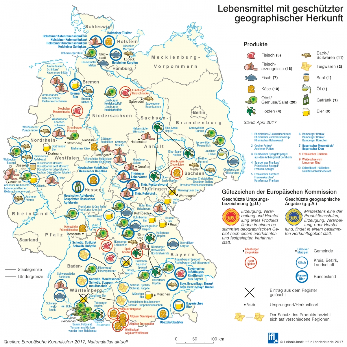 germany is well known for its beers but what else comes from germany in the map below is elaborated well known gis of germany based on their origin